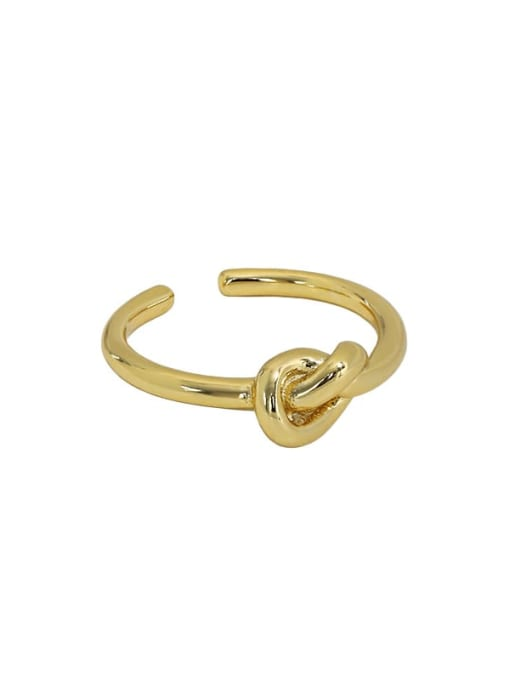 Art007 [gold] 925 Sterling Silver Hollow knot Vintage Band Ring